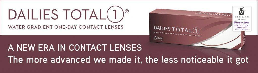 Alcon - DAILIES TOTAL1 ad with contact lens boxes