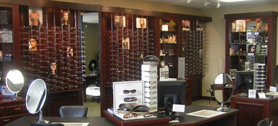 The eyeglass frames at our eye care center