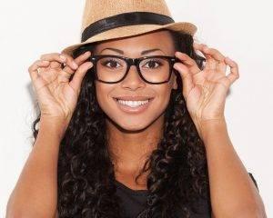 african american woman wearing eyeglasses on sale in Llano tx