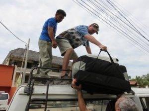 Unpacking Van in Peru, Optometrists, Eye Care