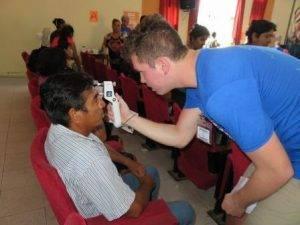 Eye Exam in Peru, Volunteers, Eye Doctor from Colorado Springs, Co