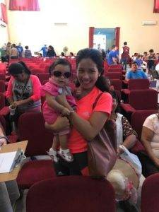 Mother and child in Peru with new glasses, donated by volunteer eye doctors from Colorado Springs, CO