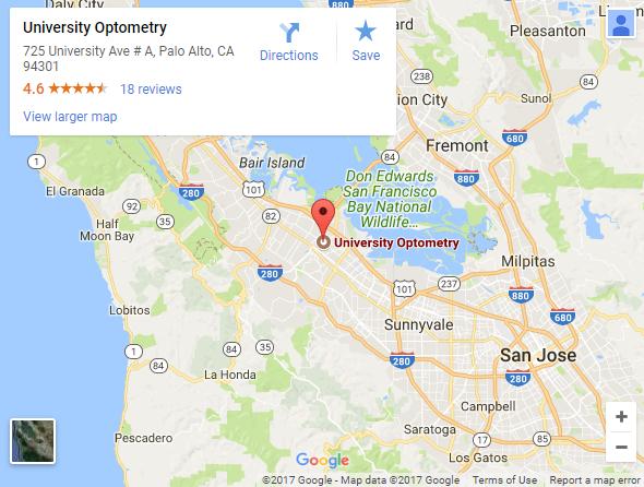 Map University Optometry