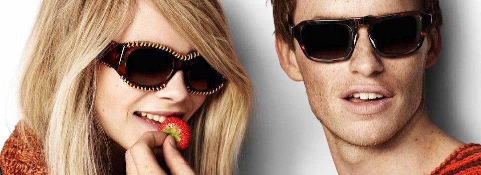 Man and Woman wearing Designer Sunglasses in Sherwood Park