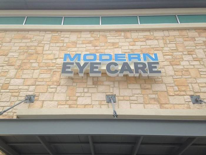 Modern Eye Care Front sign