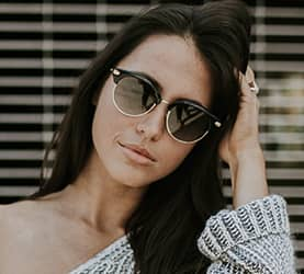 Girl wearing sunglasses in Lake Mary & Orlando, FL