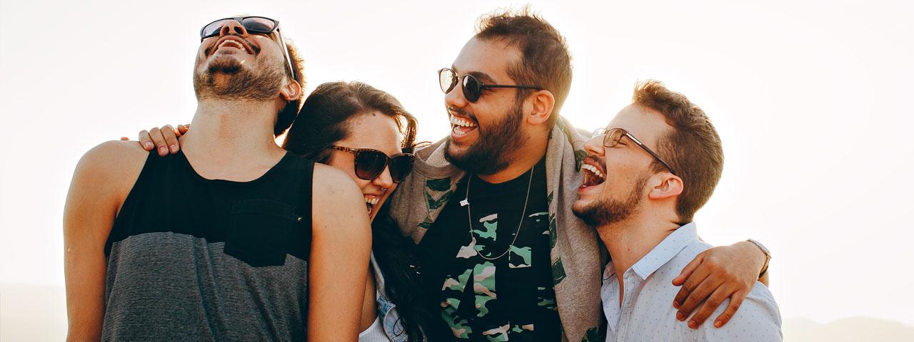 Group Hug Laughing 1280×480
