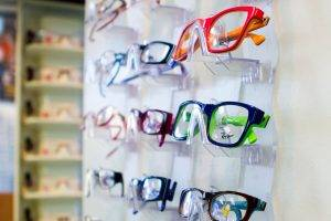 Optical shop showing Ray Ban etcetera glasses
