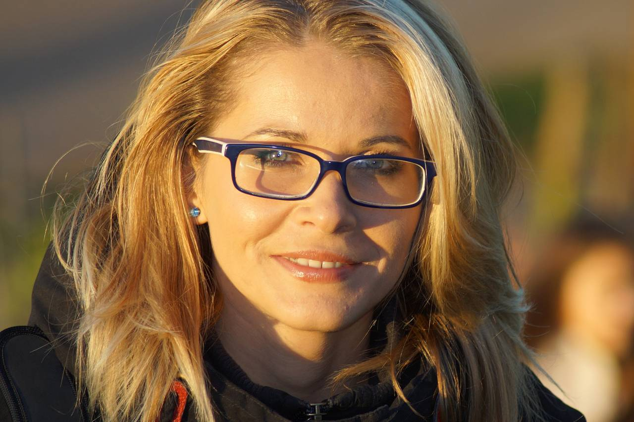 Blonde Woman Glasses