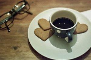 Coffee Heart Cookies Glasses
