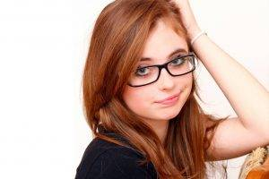 Female Red Hair Glasses