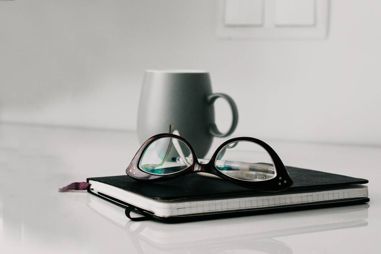 Glasses Notebook Mug 1280x853