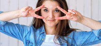 Happy Girl Fingers Near Eyes 1280x853