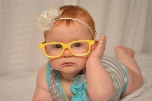 baby girl yellow glasses | Pediatric Eye Exams In Warminster PA