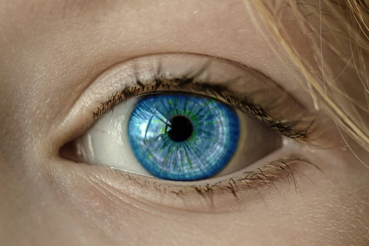 eye blue close