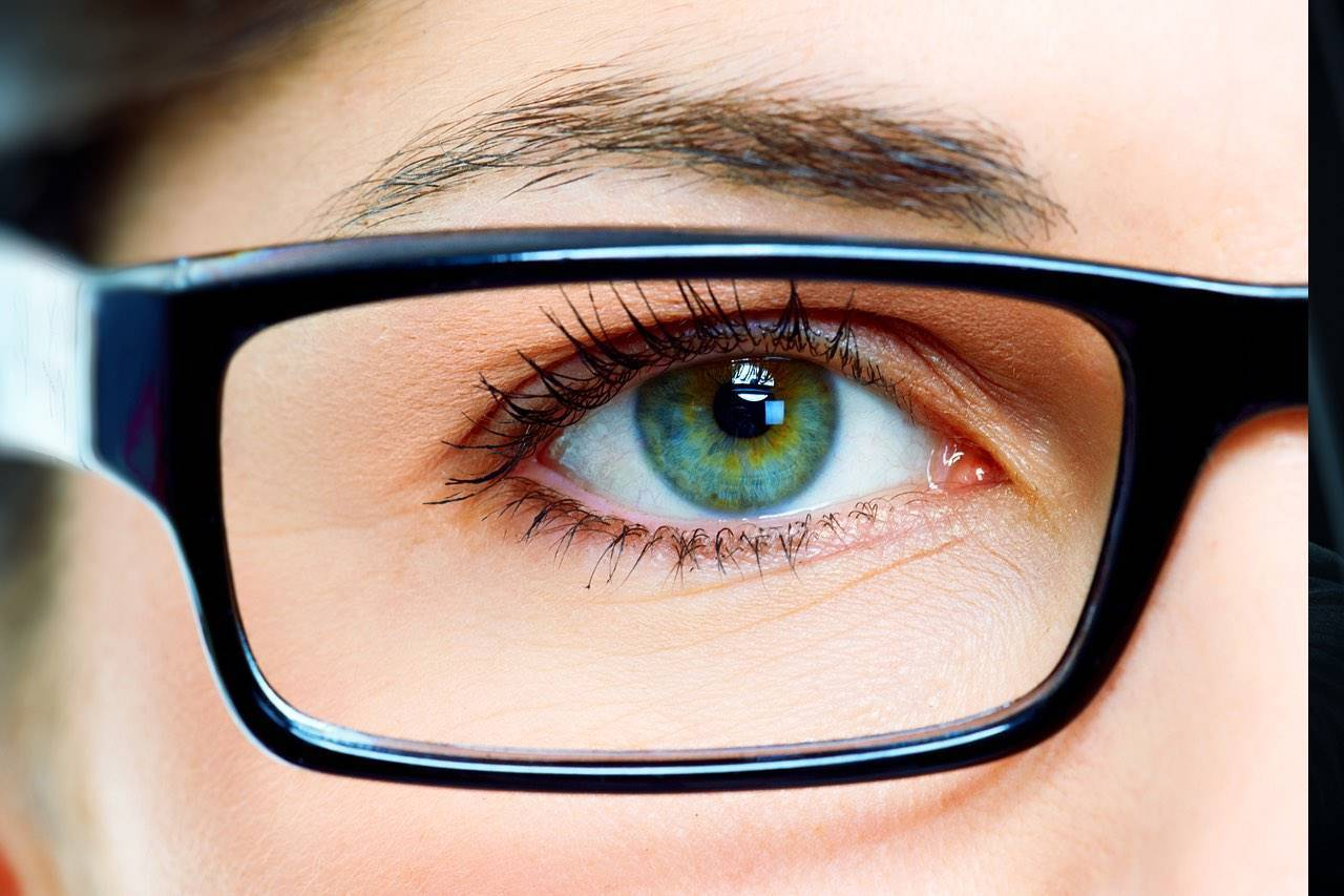 eye glasses close up