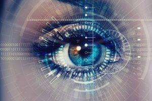 female eye closeup digital