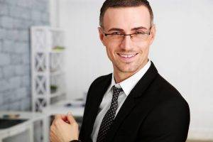smiling professional man