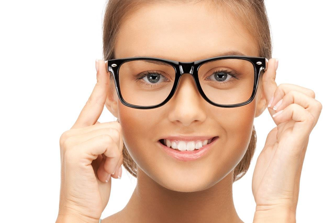 woman wearing glasses caucasian