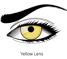 halloween yellow lens