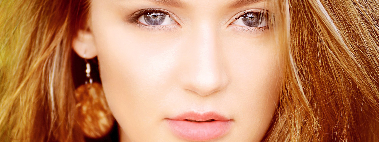 Woman Serious Pretty Eyes 1280x480
