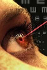 laser in eye