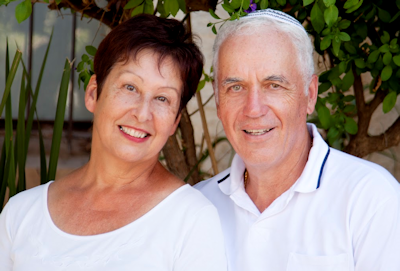 senior couple in white cataracts kent wa
