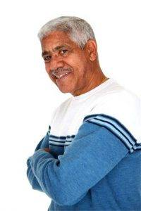 senior man with arms crossed