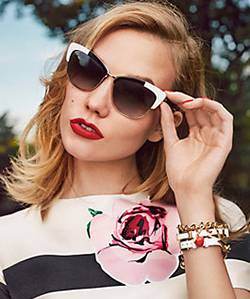 Woman wearing Kate Spade sunglasses