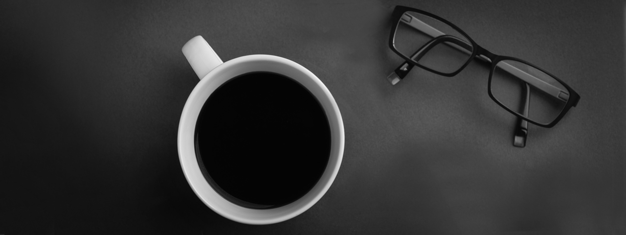Black Coffee and Glasses 1280x480
