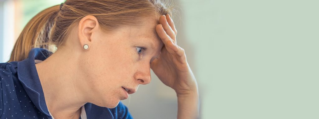 Woman Resting Head on Hand 1280x480