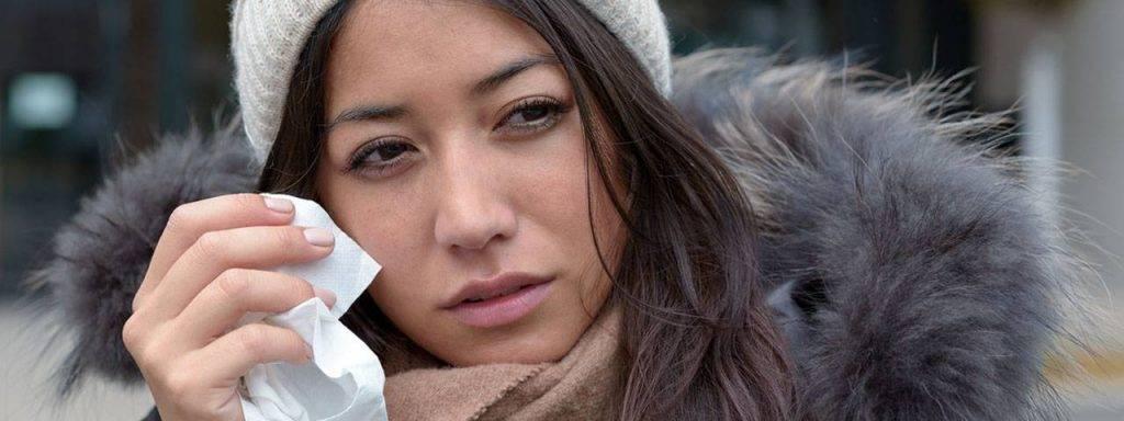 Woman Teary Eye Winter 1280x480