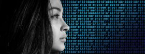 Young Woman Binary Numbers 1280x480