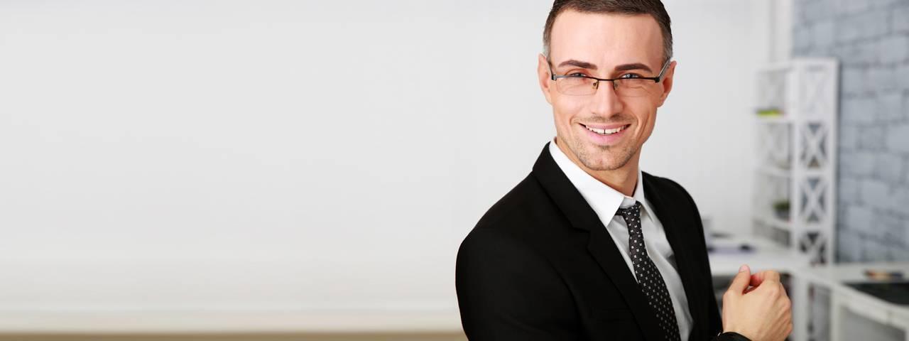 smiling professional man slide