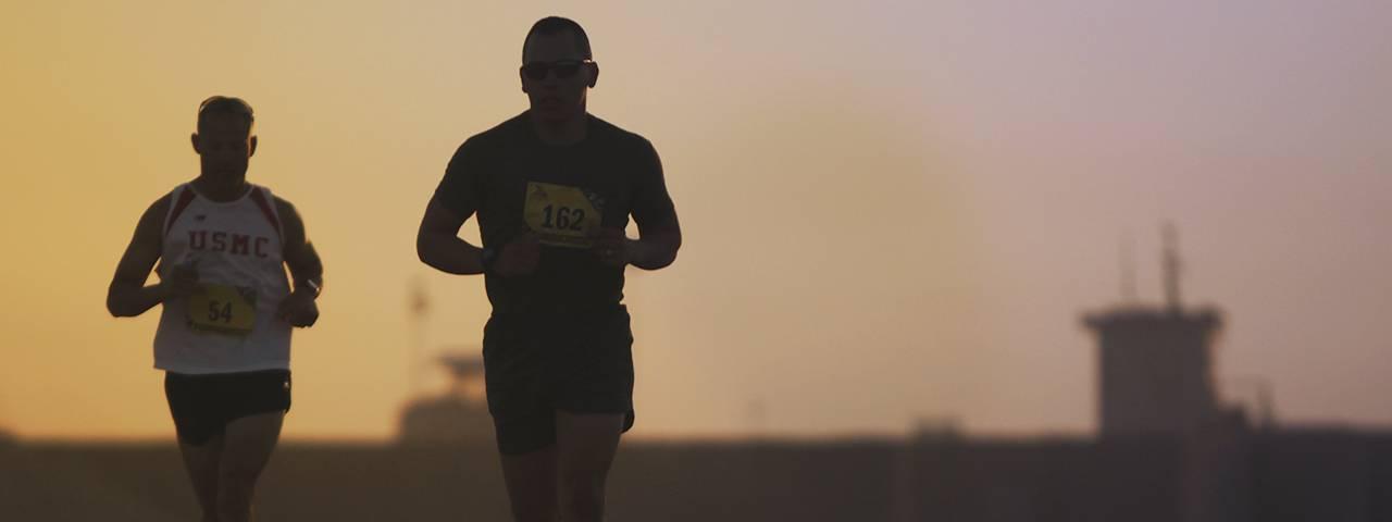 two running men