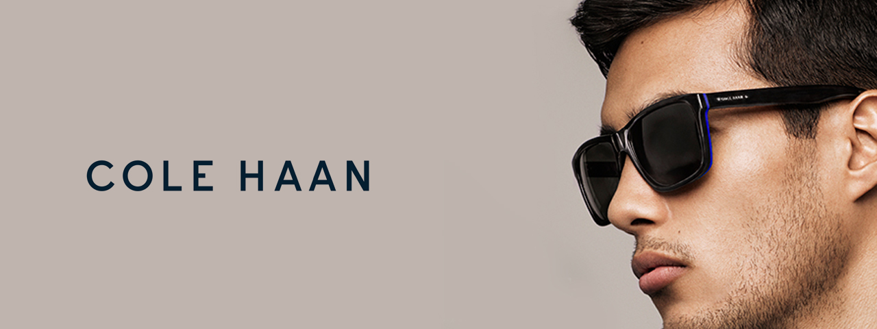 Man wearing Cole Haan sunglasses