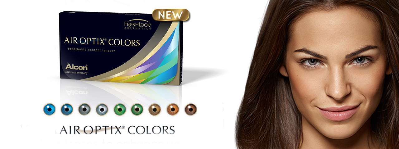 Pretty woman in ad for Air Optix Colors Contact Lenses in Davie, FL