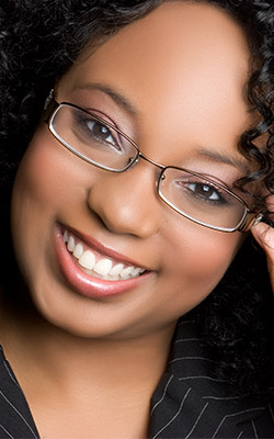 african american woman glasses black