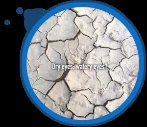 dry cracked mud eyes