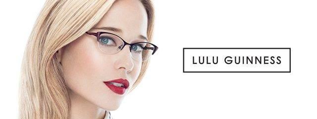 Eye doctor, woman wearing Lulu Guinness eyeglasses in Phoenix, AZ