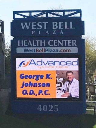 Dr. George Johnson, OD, sign