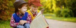 Eye doctor, little boys reading in Old Bridge, NJ