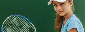 Eye doctor, girl holding a tennis racket in Old Bridge, NJ