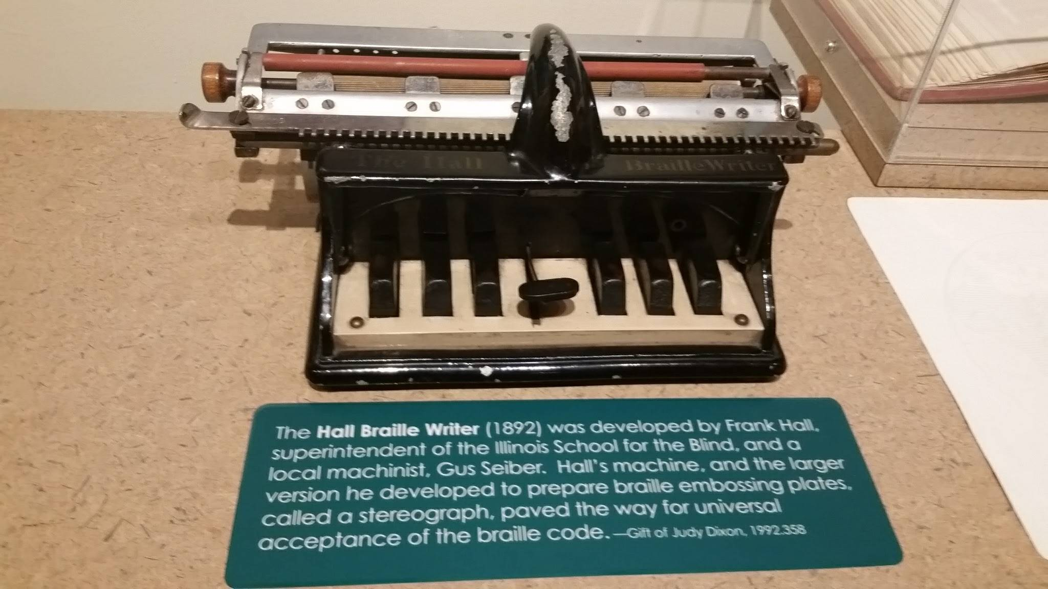 One of the many early Braille writers.