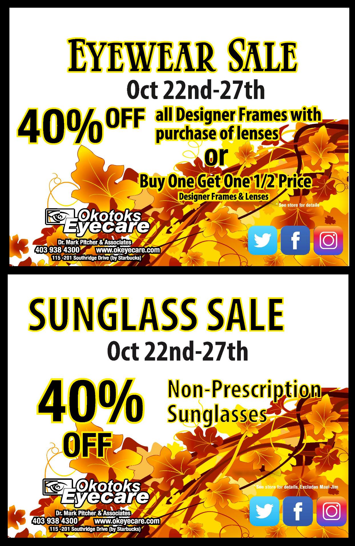 Okotoks Eyecare ads