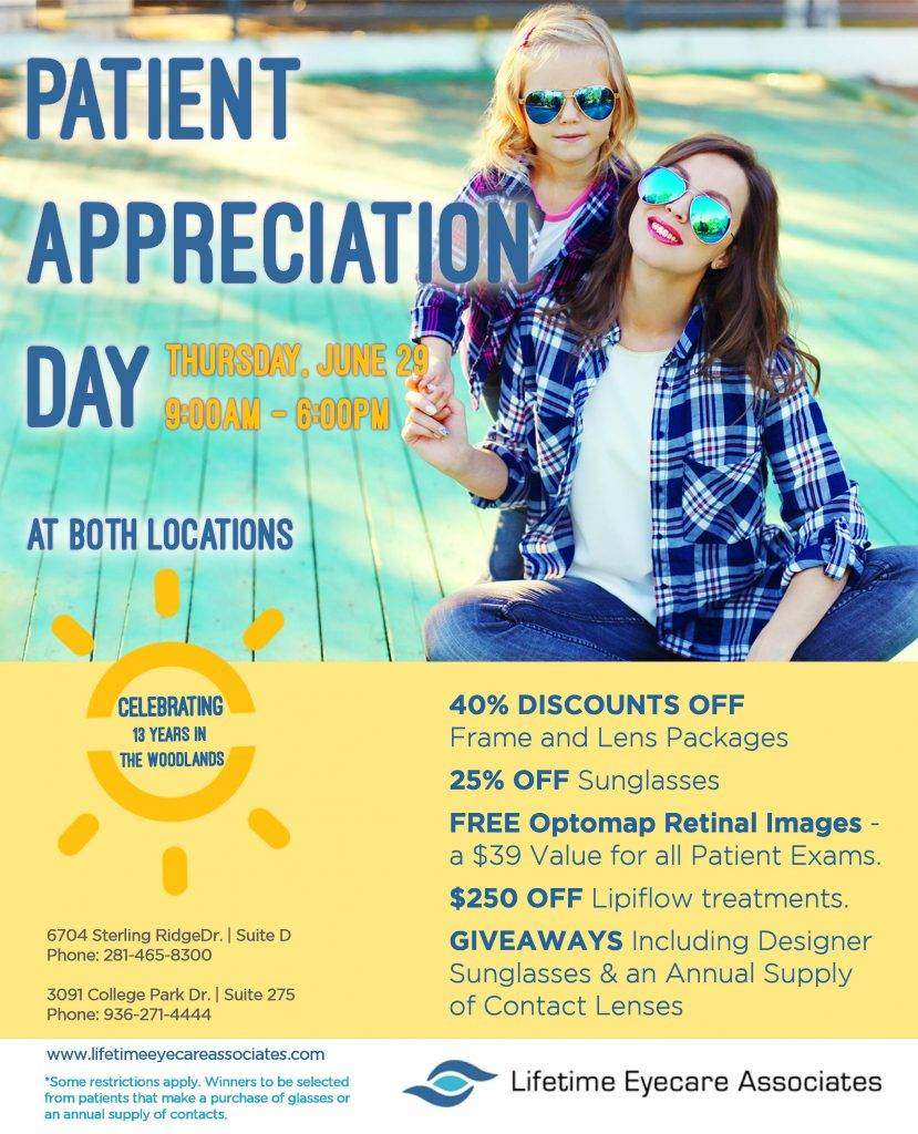 Patient Appreciation Day at Lifetime Eyecare Associates in The Woodlands, TX
