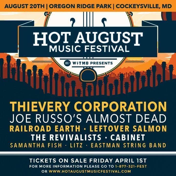 Hot August Music Festival: Aug 20, 2016   Oregon Ridge Park   Cockeysville MD