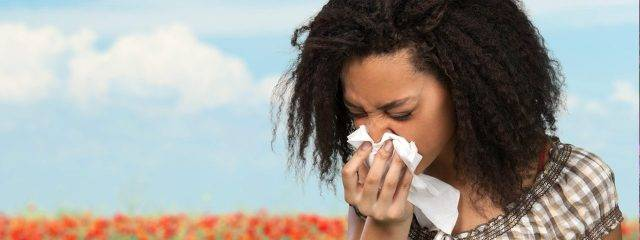 Eye doctor, woman suffering from eye allergies in Plainview, NY