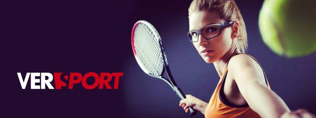 Eye care, tennis player wearing safety and sports glasses in Westerville, OH