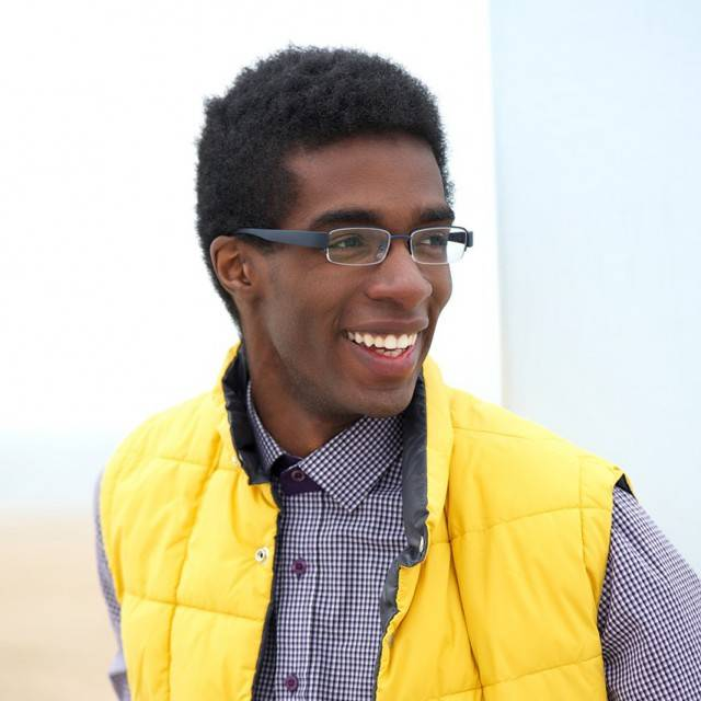 african american male wearing designer eyeglasses in corsicana, tx